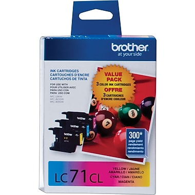 Brother LC71CL Color Ink Cartridges, 3/Pack