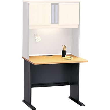 Bush Cubix 36in. Desk, Euro Beech/Slate Gray