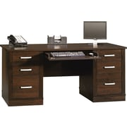 Sauder® Office Port Executive Desk, Dark Alder