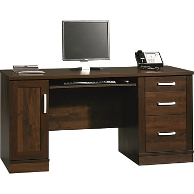 sauder office port credenza dark alder staples
