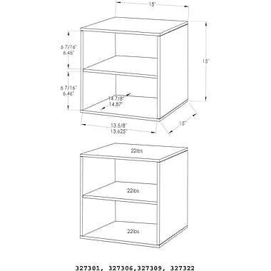 Foremost® Hold'ems Modular Cube Storage System, Black 15