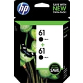 HP 61 Black Ink Cartridges (CZ073FN), 2/Pack