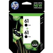 HP 61 Black Ink Cartridges (CZ073FN), Twin Pack