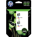 HP 61 Tricolor Ink Cartridge (CZ074FN), Twin Pack