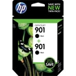 HP 901 Black Ink Cartridge (CZ075FN), Twin Pack