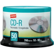 Staples® 50/Pack 700MB CD-R, Spindle