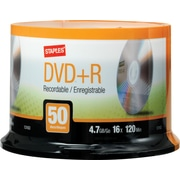 Staples® 50/Pack 4.7GB DVD+R, Spindle
