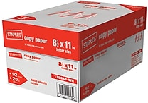 Staples® Copy Paper, 8 1/2' x 11', Case