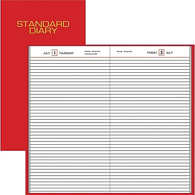 "2014 AT-A-GLANCE® Standard Diary® Daily Diary, 7 11/16"" x 12 1/8"""