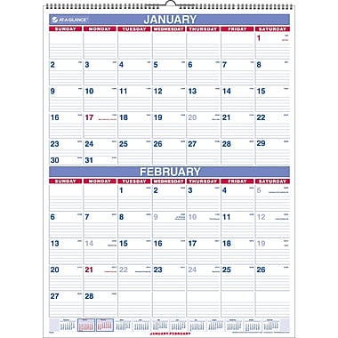 2014 AT-A-GLANCE® Two-Month Wall Calendar, 22in. x 29in.