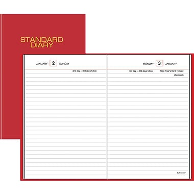 "2014 AT-A-GLANCE® Standard Diary® Daily Reminder, 5"" x 7 1/2"""