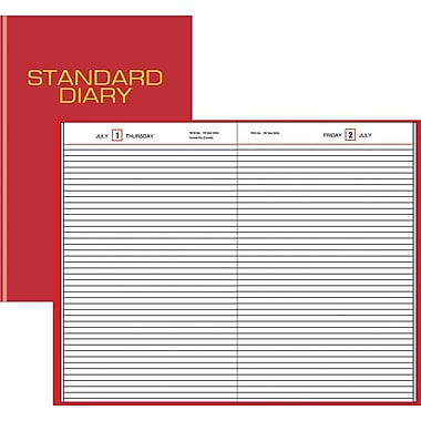 2013 AT-A-GLANCE® Standard Diary® Daily Business Diarie, Red, 7in. x 10in.