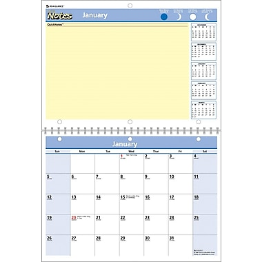 "2014 AT-A-GLANCE® QuickNotes® Desk/Wall Calendar, 11"" x 8"""