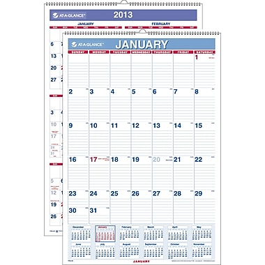 "2014 AT-A-GLANCE® Monthly Wall Calendar, 15 1/2"" x 22 3/4"""