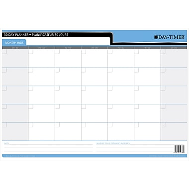 Day-Timer 30/60 Day Reversible Flexible Planner, 17