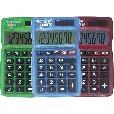 Victor® 700BTS 8 Digit Pocket Calculator, 10 Pack
