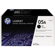 HP 05A Toner Cartridge, Black, Twin Pack (CE505D)