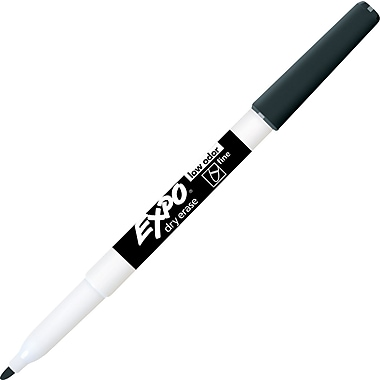 Expo® Low Odor Dry-Erase Markers, Fine Point, Black, 4/Pac