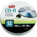 Staples 12/Pack 700MB CD-R, Spindle