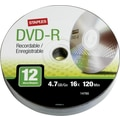 Staples 12/Pack 4.7GB DVD-R, Spindle