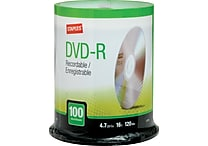 Staples 4.7GB DVD-R, 100/Pack