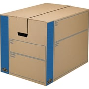Bankers Box® SmoothMove Kraft Moving Box, FastFold, Extra Strength, Small, 12.38W x 17.25D x 12.63H, 10/Pack