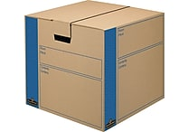 Bankers Box® SmoothMove Kraft Moving Box, FastFold, Extra Strength, Medium, 18'W x 18'D x 16'H, 8/Pack