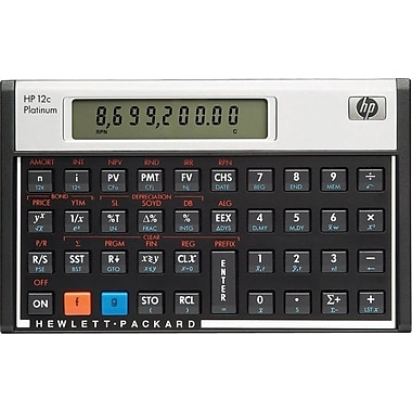 HP® 12c Platinum Programmable Financial Calculator