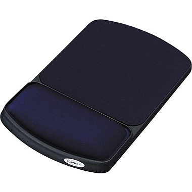 Fellowes Jewel Tones Gel Wrist Rest and Mouse Pad, Sapphire