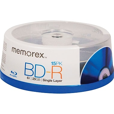 Memorex 98683 25GB 6x BD-R 15-Pack Spindle