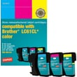 Staples® Remanufactured Color Ink Cartridges Compatible with Brother LC61, 3/Pack