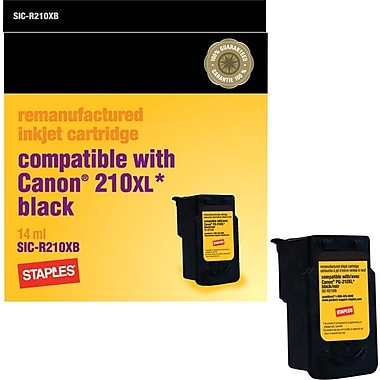 Staples Remanufactured Ink Cartridge Compatible with Canon CL-210XL Black, High