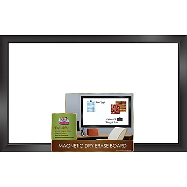 The Board Dudes™ Magnetic Dry-Erase Board with Black Frame, 35in. x 22in.