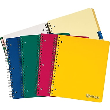 Ampad® Envirotec Recycled Wirebound 5 Subject Notebook, 8-1/2in. x 11in.