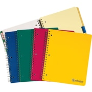 "Ampad® Envirotec® Recycled Wirebound 5 Subject Notebook, 8-1/2"" x 11"""