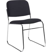 Global Custom Chrome Stack Chair, Charcoal, Premium Grade
