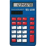 Texas Instruments TI-108 Display Calculator, 10-Pack