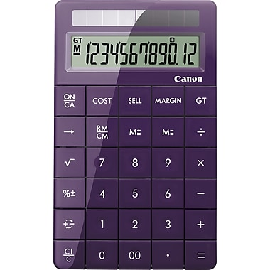 Canon® X Mark I 12-Digit Display Calculator, Purple