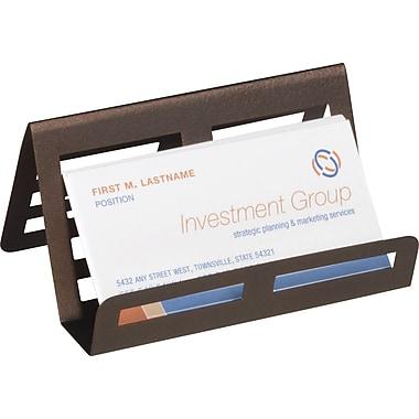 Staples® - Porte-cartes de visite en bronze métal