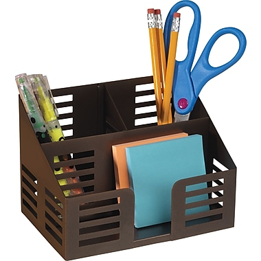 Staples Punched Metal Desktop Organizer