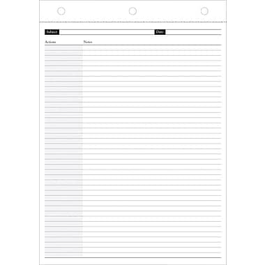 Day-Timer Magna Pad Refill, Notation, 8-1/2in. x 11in.