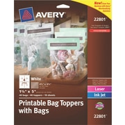 Avery® Printable Bag Toppers with Bags