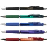 Staples Motiva™ Advanced Ink Retractable Ballpoint Pens, Fine, Assorted, 5/Pack (21520)