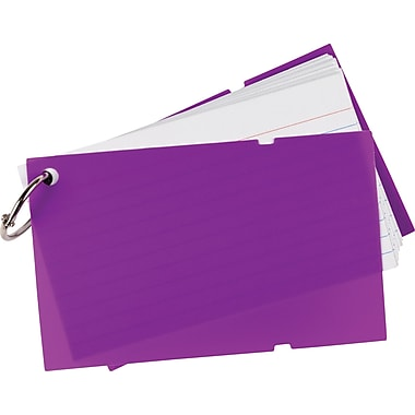 Staples Ruled Index Cards on a Ring with Poly Cover, 3in. x 5in.