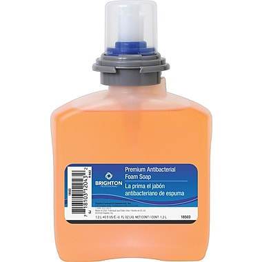 Brighton Professional™ Antibacterial Foam Soap Refill, 1,200ml, 2/Case (18503-CC)