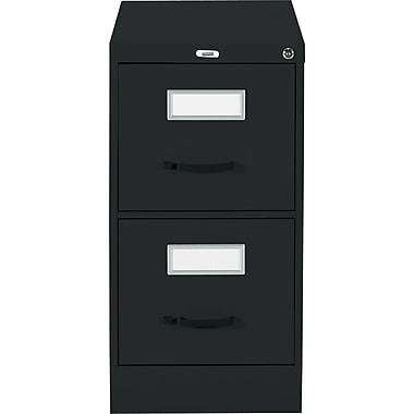 Staples® Vertical Letter File Cabinet, 2-Drawer, Black