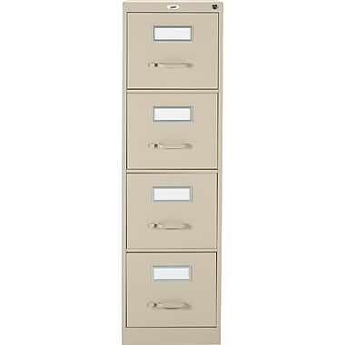 Staples® Vertical Letter File Cabinet, 4-Drawer, Sand