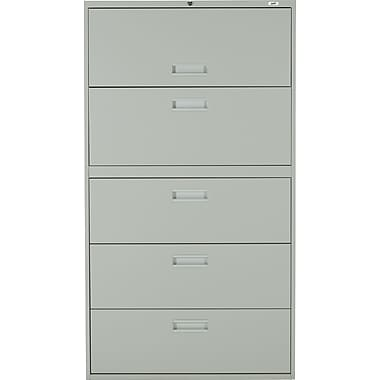 Staples® Lateral File Cabinet, 5-Drawer, Grey