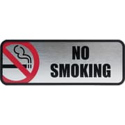 Cosco® 098207 No Smoking Office Sign, Silver/Red
