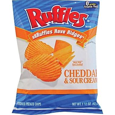 Ruffles® Cheddar & Sour Cream Potato Chips, 1.5 oz. Bags, 64 Bags/Box